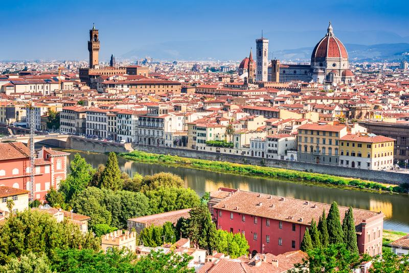 Florence Tuscany, Italien, Duomo Santa Maria del Fiori royaltyfria foton