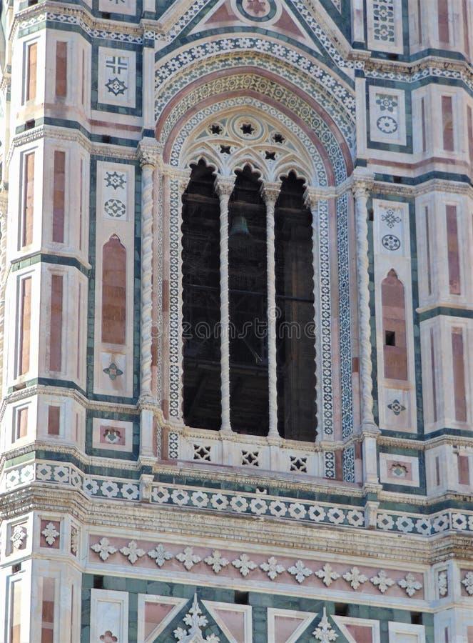 Florence Tuscany Italy detalj av berömda Giotto'sens campanile, arkivfoton