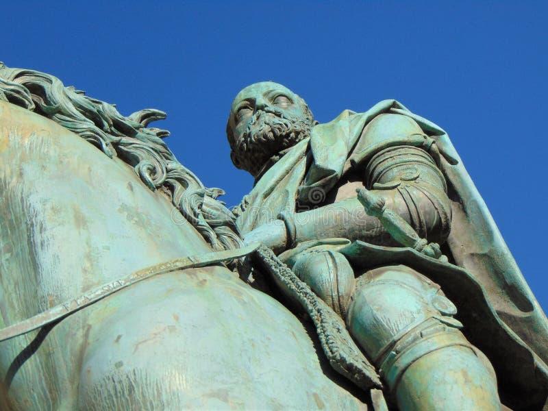 Florence Tuscany Italy, Monument von Cosimo De 'Medici, Quadrat von Signoria stockfotos