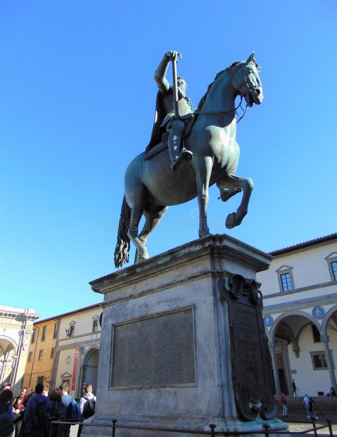 Florence Tuscany Italy, piazza Santissima Annunziata fotografie stock libere da diritti