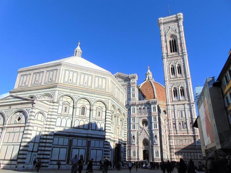Florence Tuscany Italy, quadrato di Piazza del Duomo Cathedral immagini stock