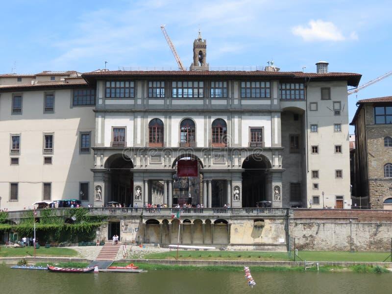 Florence, Uffizi museum stock photo