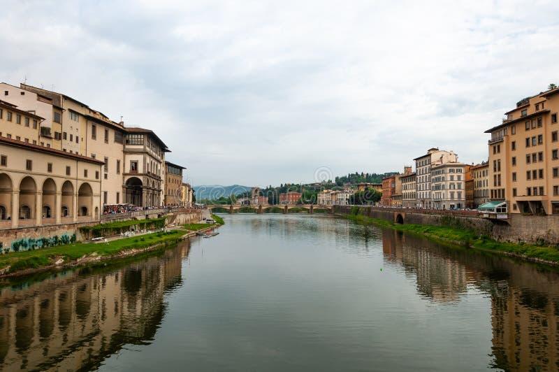 Florence, Unesco-Erfenis en huis aan de Italiaanse Renaissance, volledig van beroemde monumenten en kunstwerken over de hele were stock afbeeldingen