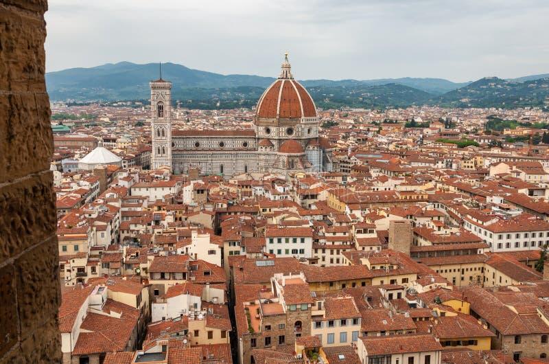 Florence, Unesco-Erfenis en huis aan de Italiaanse Renaissance, volledig van beroemde monumenten en kunstwerken over de hele were stock afbeelding