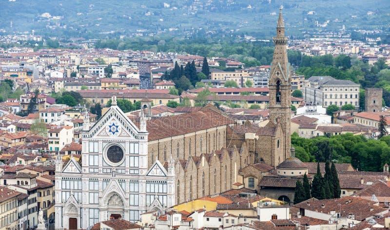 Florence, Unesco-Erfenis en huis aan de Italiaanse Renaissance, volledig van beroemde monumenten en kunstwerken over de hele were stock foto's