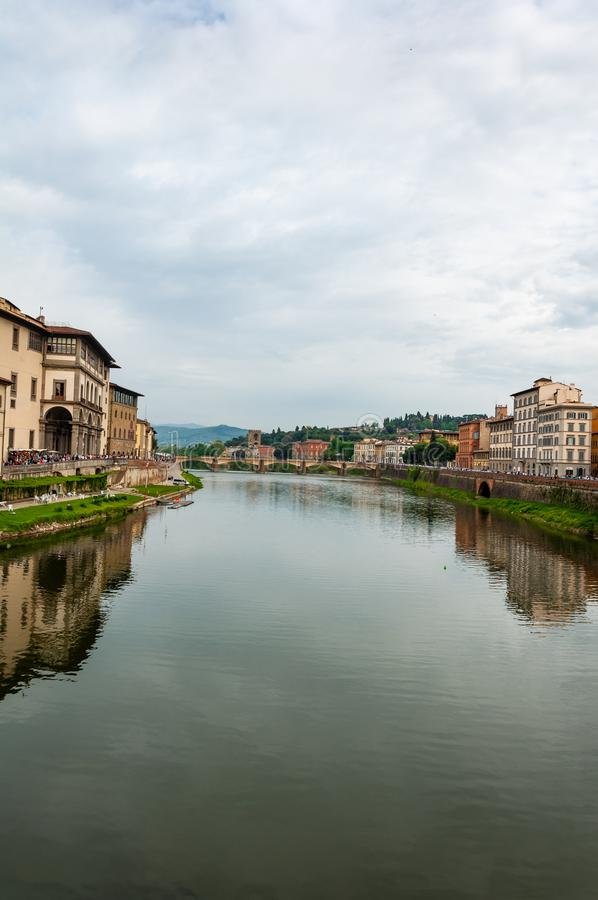 Florence, UNESCOarv och hem till den italienska ren?ssans som, ?r full av ber?mda monument och konstverk ?ver hela v?rlden arkivbilder