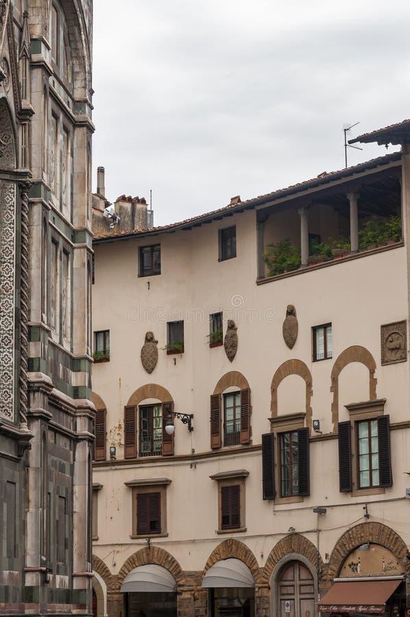 Florence, UNESCOarv och hem till den italienska ren?ssans som, ?r full av ber?mda monument och konstverk ?ver hela v?rlden arkivbild