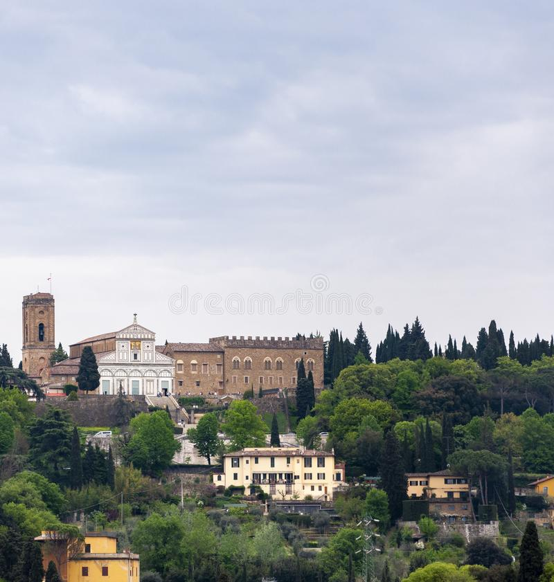 Florence, UNESCOarv och hem till den italienska ren?ssans som, ?r full av ber?mda monument och konstverk ?ver hela v?rlden royaltyfri fotografi