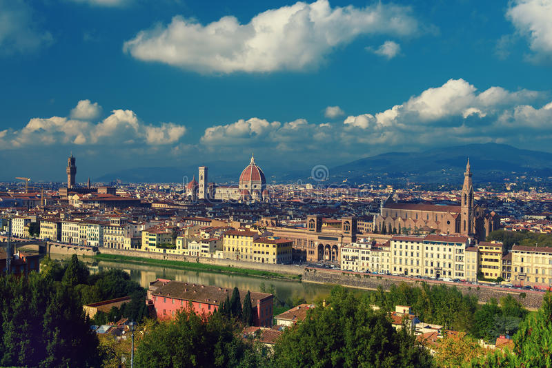 Download Florence View from above stock photo. Image of church - 83718514