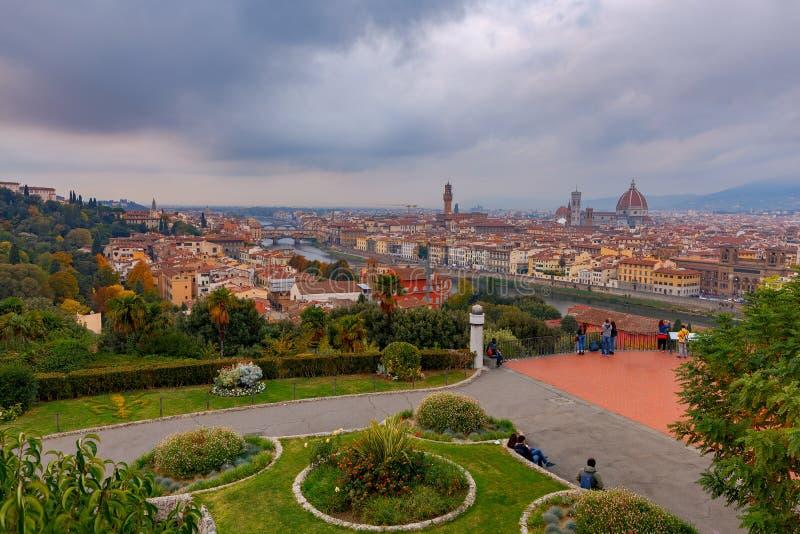Florence Vue aérienne de la ville photographie stock
