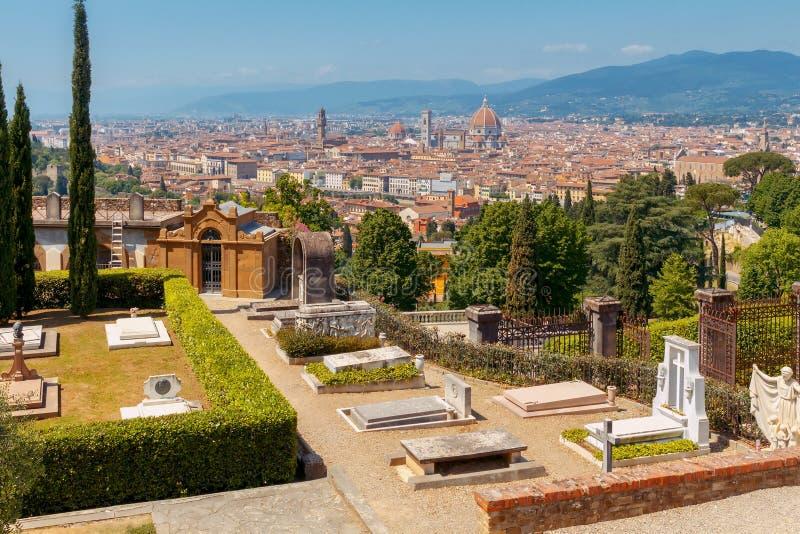 Florence Vue aérienne de la ville photos stock