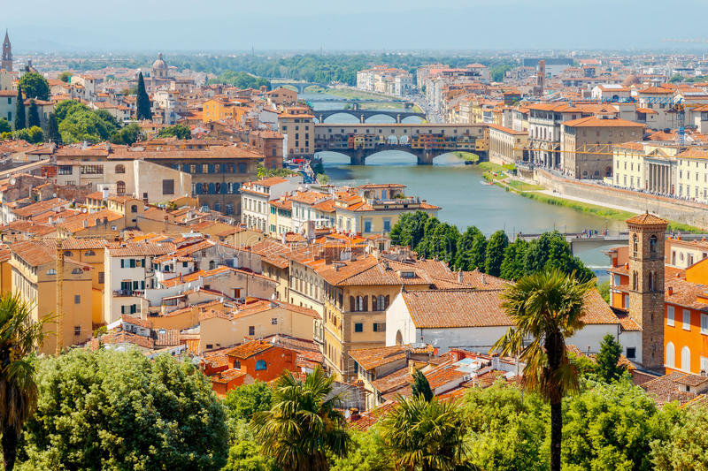 Florence Vue aérienne de la ville photo stock