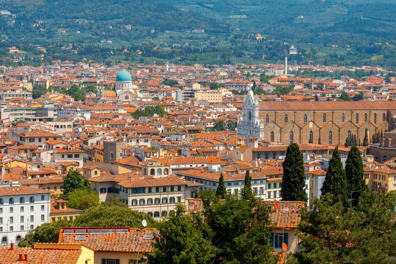 Florence Vue aérienne de la ville photos libres de droits