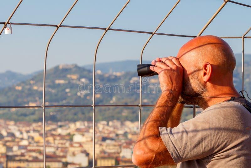 Florence Vue de la tour de cloche de la cathédrale photographie stock libre de droits