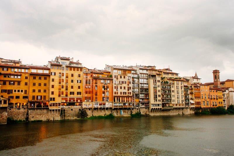 Florence Włoch rzeka arno obraz royalty free