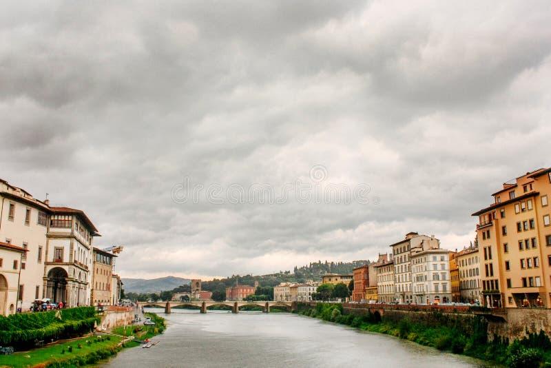 Florence Włoch rzeka arno obraz stock
