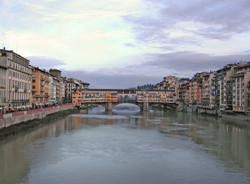 Florence Włochy mostu ponte stary vecchio obraz stock