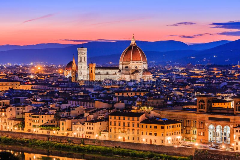 florence Włochy Widok Katedralny Santa Maria Del Fiore zdjęcia stock