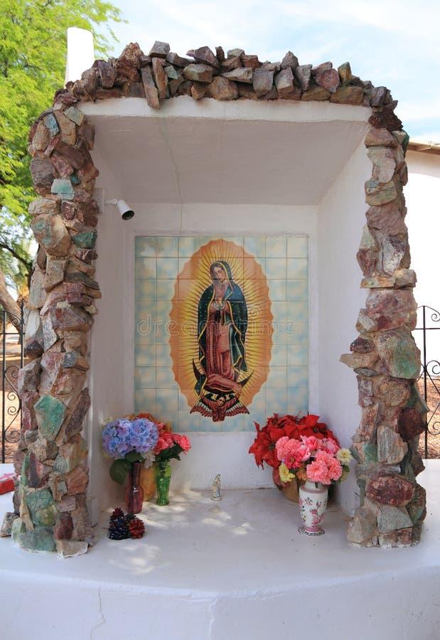 Florencia, Arizona: Virgen Mary Tile Mosaic imágenes de archivo libres de regalías