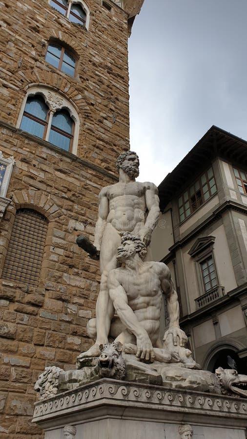 Florencia - cuadrado de Signoria imagen de archivo