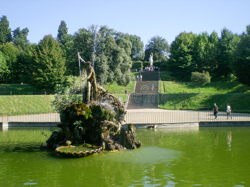 Florencia, de los jardines de Boboli foto de archivo