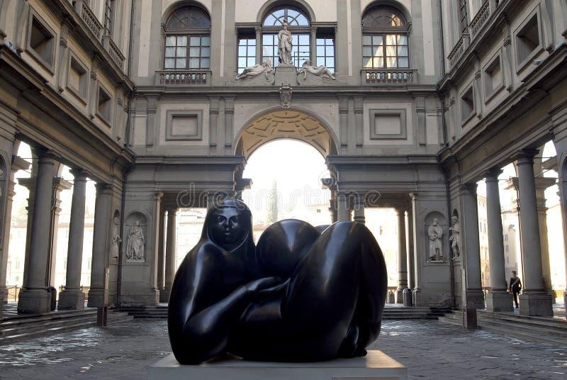 Florencia - degli Uffizi del Galleria imagenes de archivo