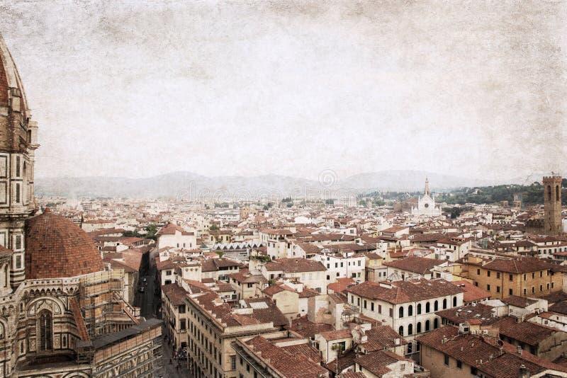 Florencia, imagen en viejo estilo del color fotos de archivo libres de regalías
