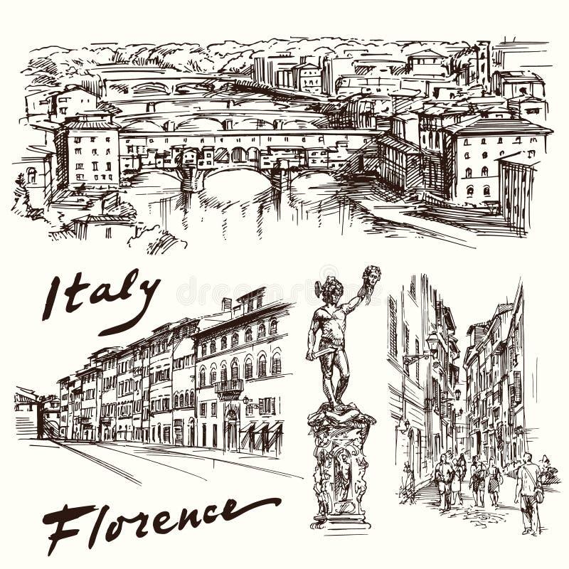 Florencia, Italia stock de ilustración