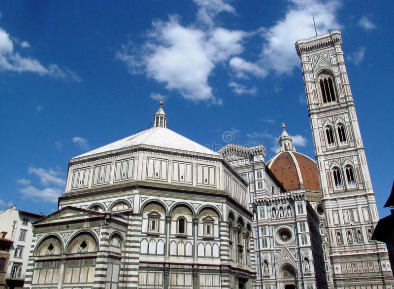 Florencja bazyliki Di Santa Maria del Fiore piazza Katedralny Duomo zdjęcia stock