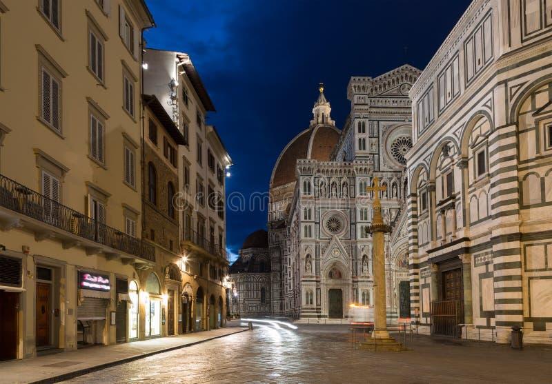 Florencja Duomo niesamowicie bazyliki del wyszczególniał Di Powierzchowność sławnego fiore Florence punkt zwrotny Maria najwięcej zdjęcie stock