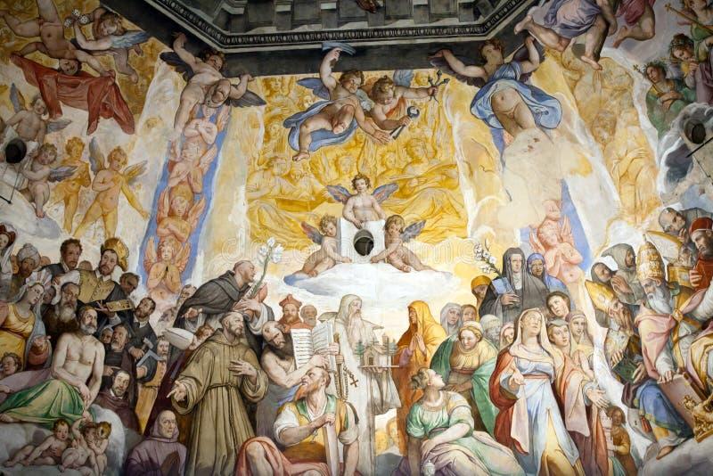 Florencja - Duomo. Ostatni osąd. fotografia stock
