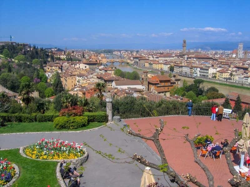 Florencja Firenze pejzaż miejski, Włochy zdjęcia royalty free