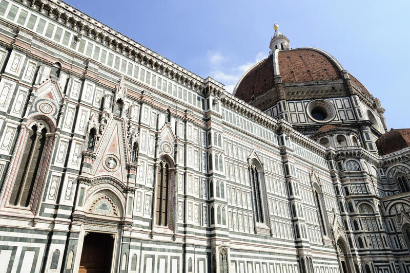Florencja katedra Filippo Brunelleschi obrazy royalty free