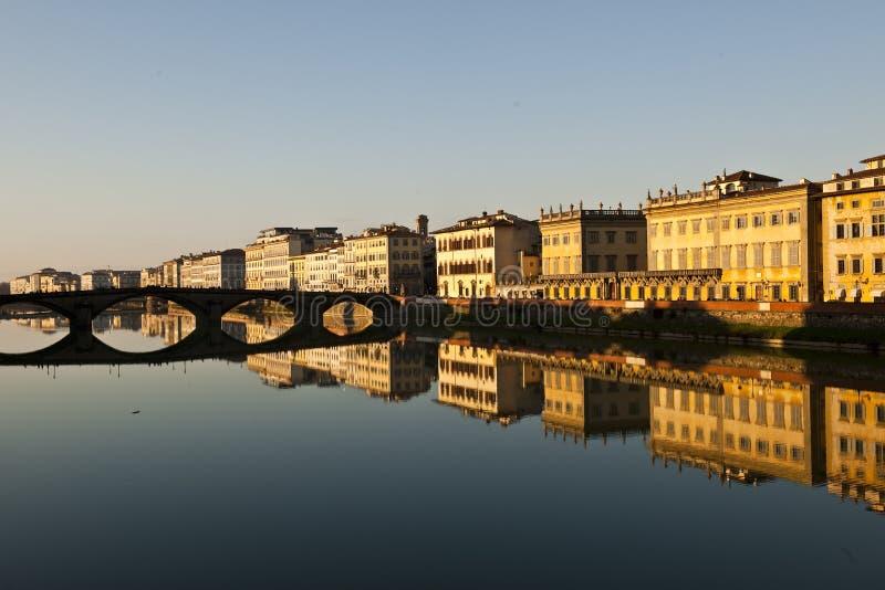 Florencja miasto w wieczór obraz royalty free