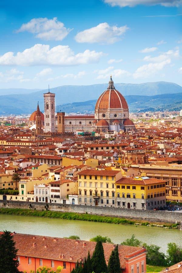 Florencja panorama, Włochy zdjęcia royalty free