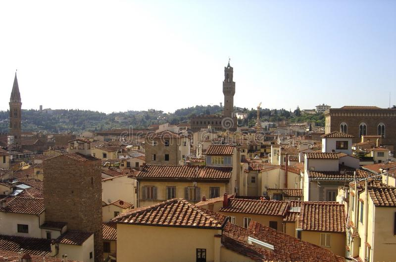 Florencja, panoramiczny widok miasto Florence, Tuscany, Italy zdjęcie stock