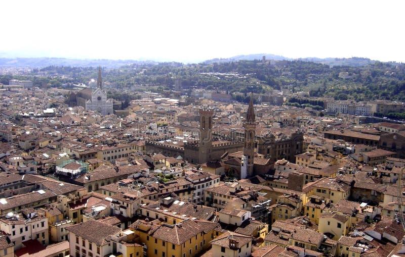 Florencja, panoramiczny widok miasto Florence, Tuscany, Italy fotografia royalty free