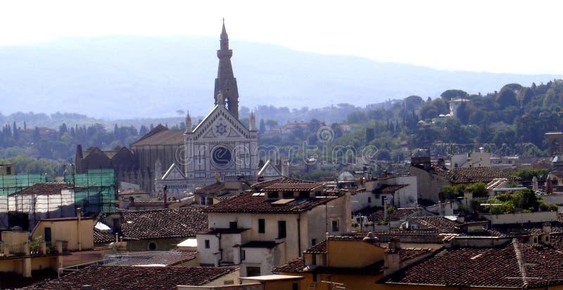 Florencja, panoramiczny widok miasto Florence, Tuscany, Italy zdjęcia stock