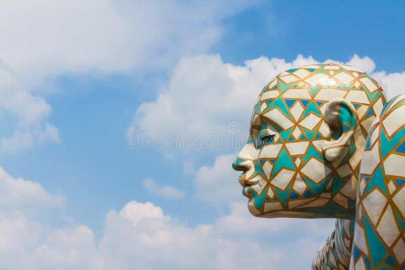 Florencja Włochy, Maj, - 23, 2011: szczegół rzeźba artis zdjęcia royalty free