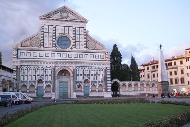 Florencja Włochy, Wrzesień, - 03, 2017: Piękne Santa Maria nowele katedralne w zmierzchu fotografia royalty free