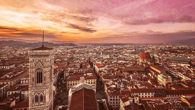 Florencja zmierzch zdjęcie stock