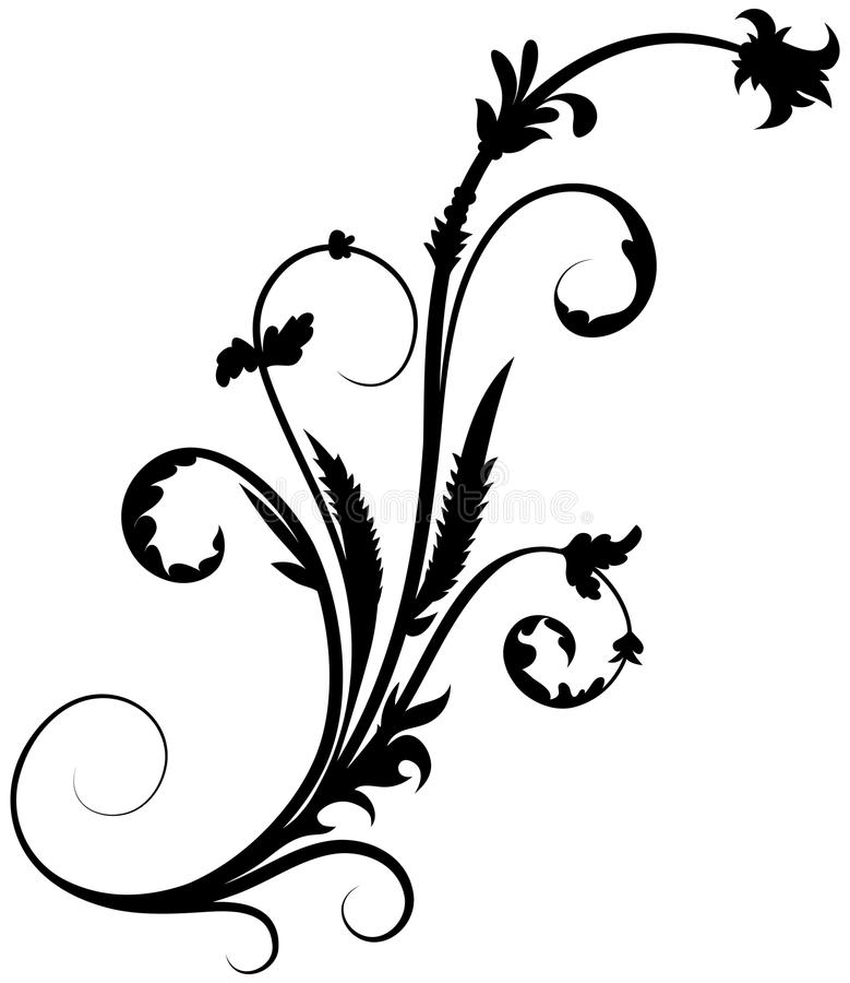Florenelement 16 stock abbildung