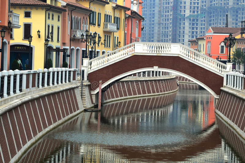 Florentia Village Tianjin China. Built in italian style royalty free stock image