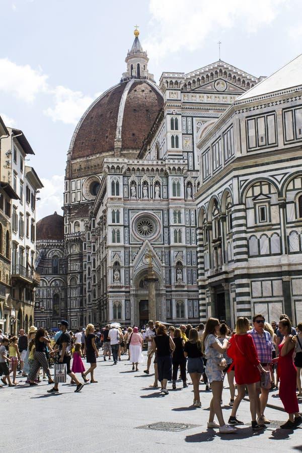 Florentijns architectuur en toerisme royalty-vrije stock afbeeldingen
