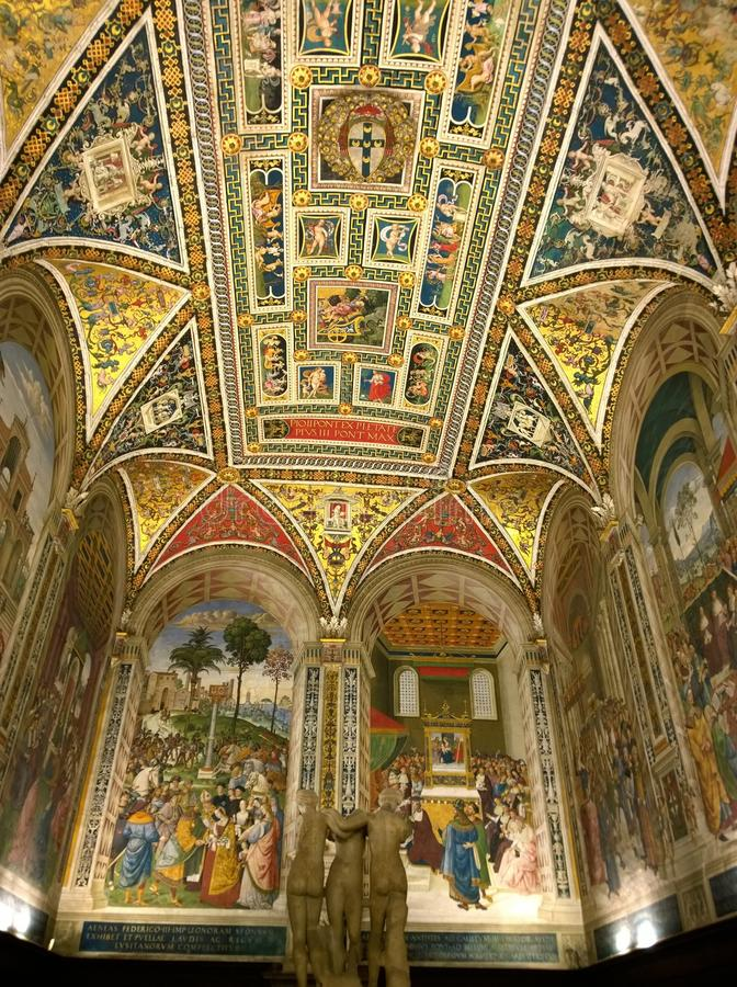 Florentine cathedral ceiling stock image