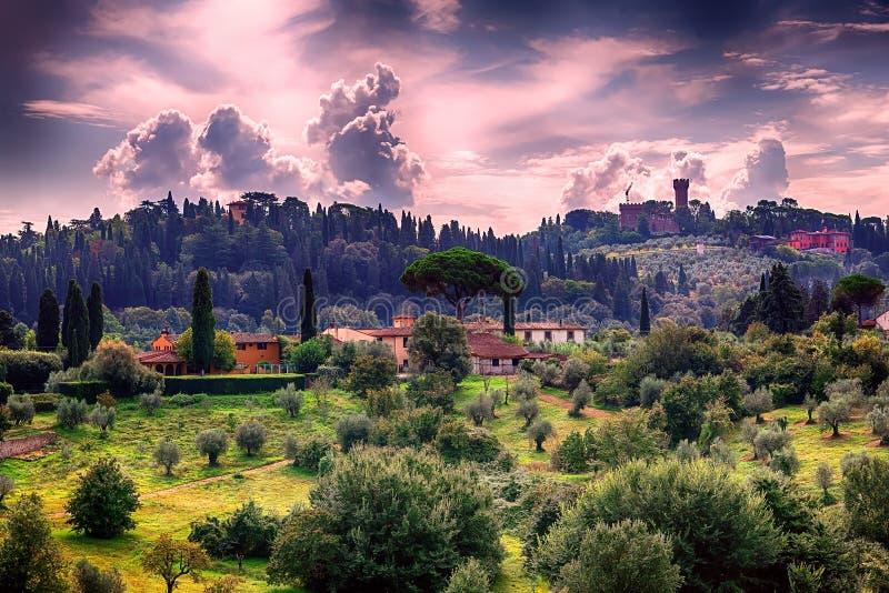 Florentinische Landschaft lizenzfreies stockbild