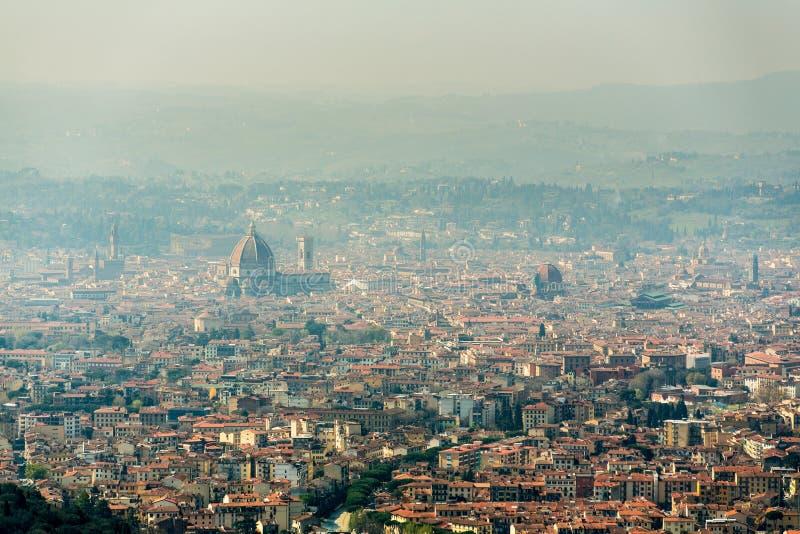 Florenz-Ansicht von Fiesole lizenzfreie stockfotografie