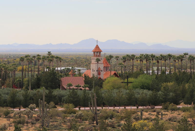 Florenz, Arizona: St- Anthony` s - ein Kloster in der Wüste stockfotos