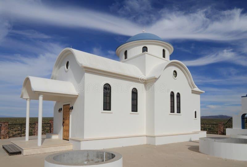 Florenz, Arizona: St- Anthony` s griechisches orthodoxes Kloster - St. Elijah Chapel stockbilder