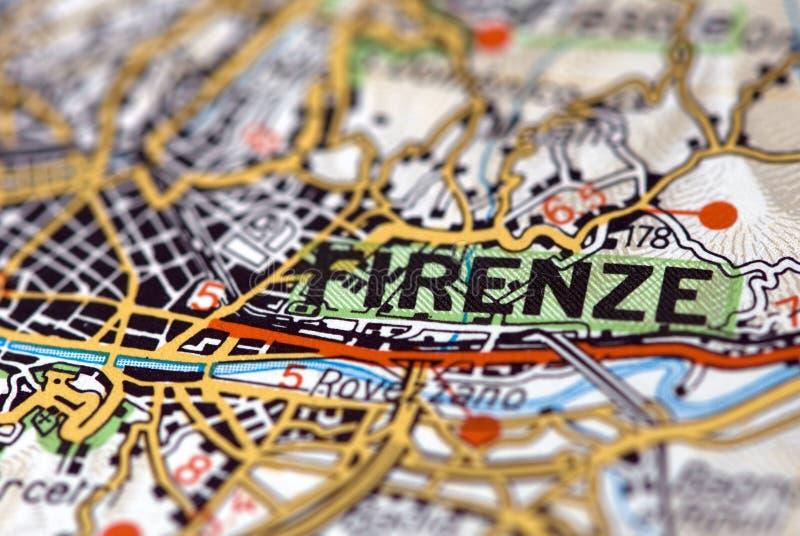 Florenz auf der Karte stockfotografie